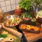 cuisiner de bon produits au gite à kerioret izella