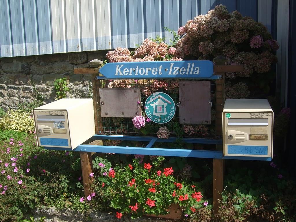 mailbox de notre location a douarnenez