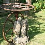 art brut au jardin d'un hergement du finistere sud