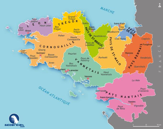 carte historique de bretagne