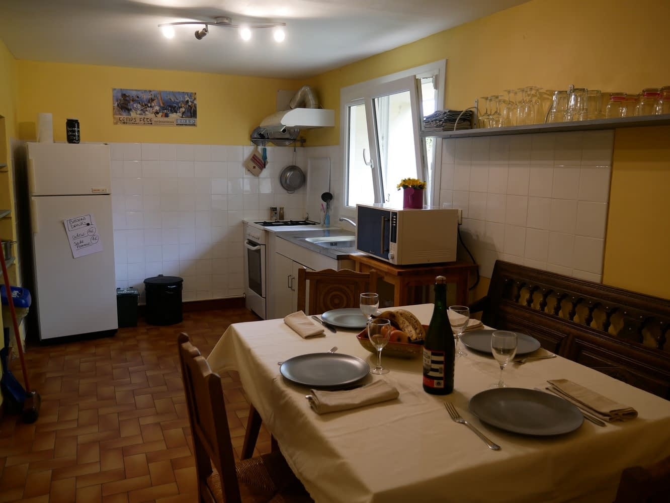 kitchen available for our b&b guests